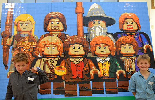 Final Lego Lord of the Rings Mosaic LynnMall